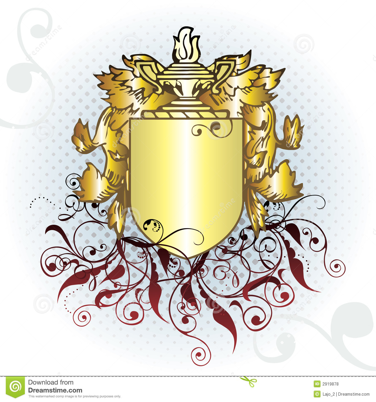 Gold Crest Element Royalty Free Stock Photos - Image: 2919878