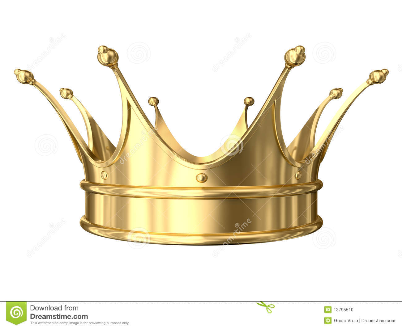 Gold Crown Stock Photo Image 13795510