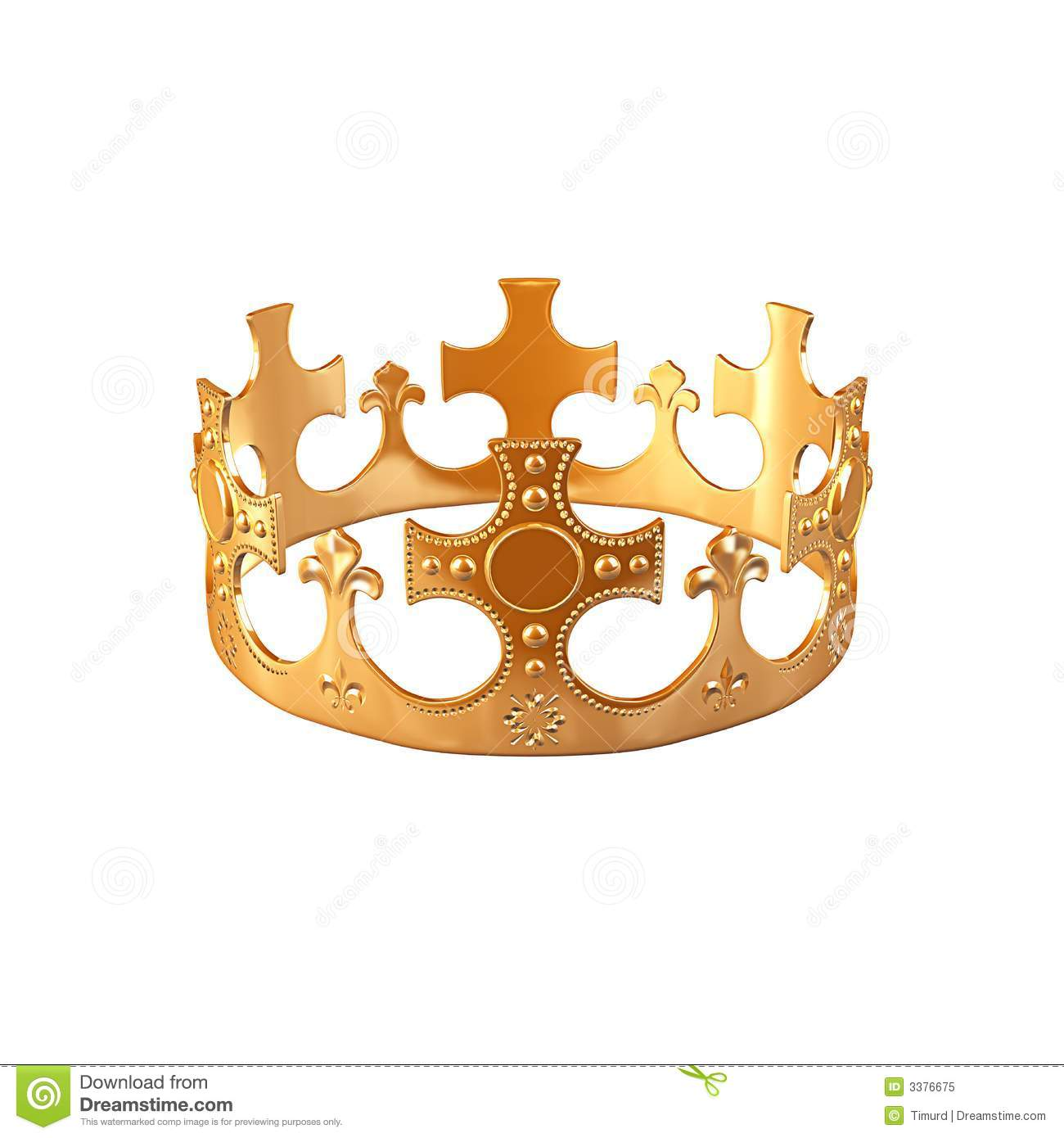 Download Gold crown stock illustration. Illustration of insignia - 3376675