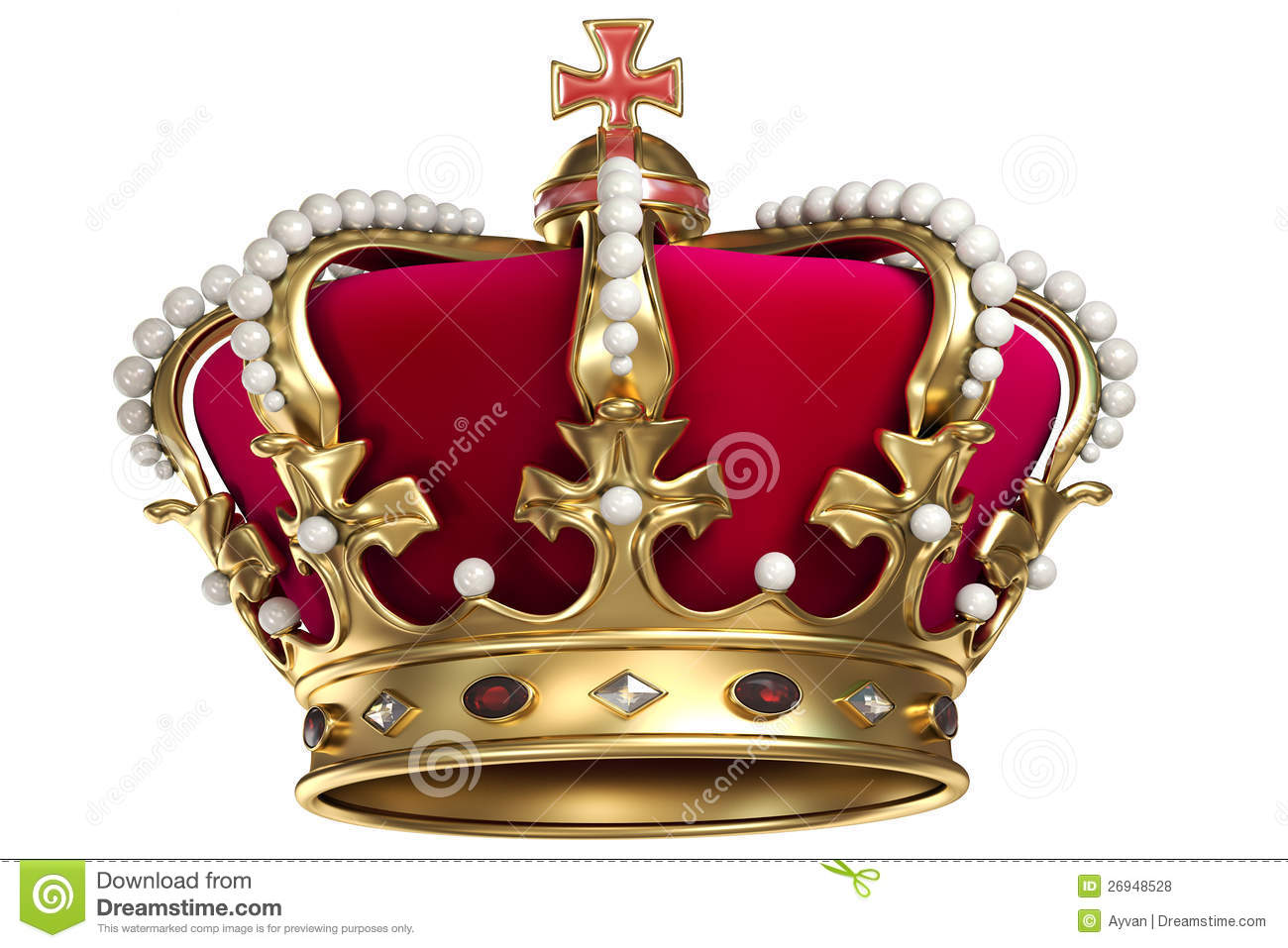 Gold Crown With Gems Royalty Free Stock Photos - Image: 26948528