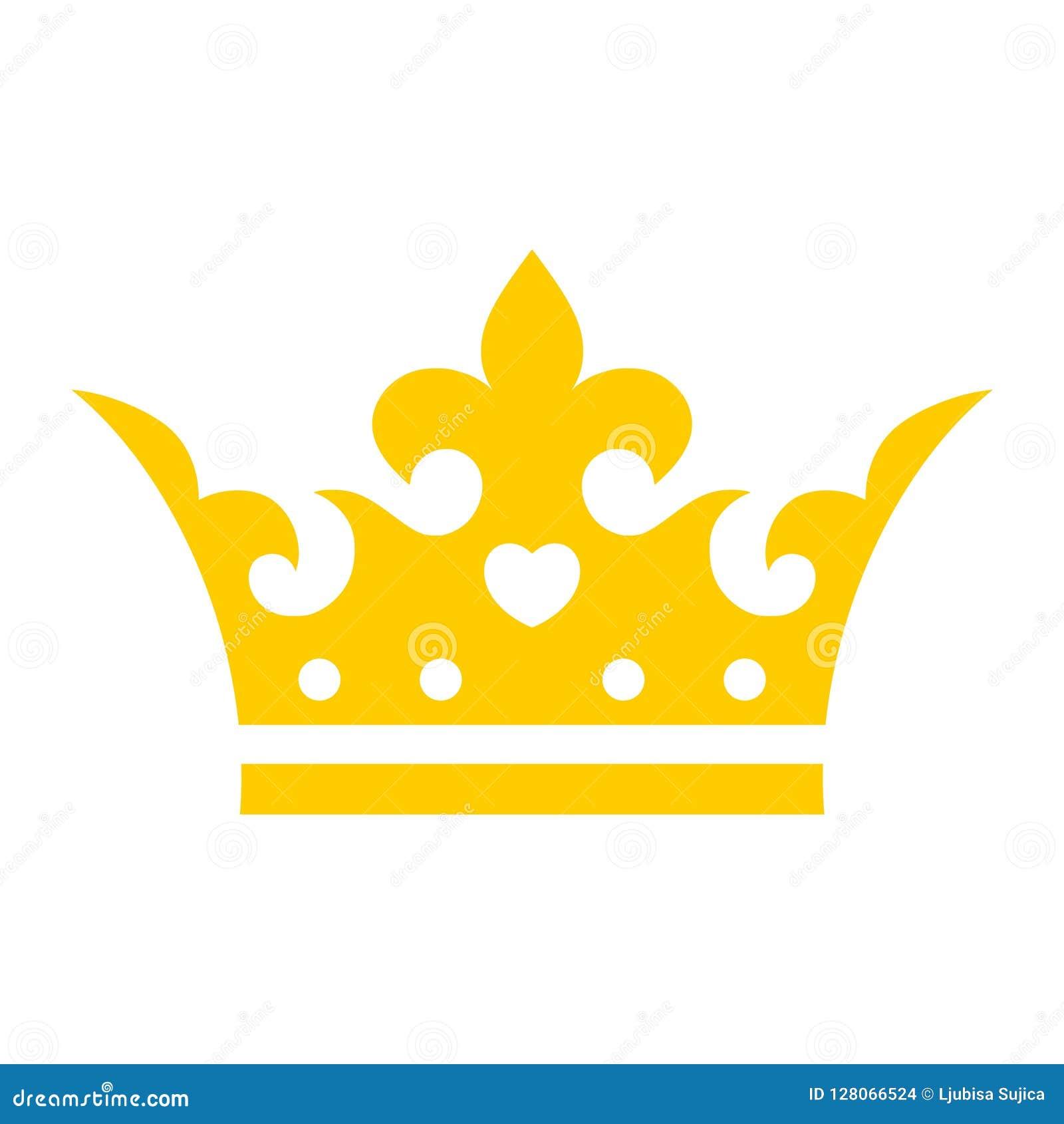 Gold crown icon, Crown logo