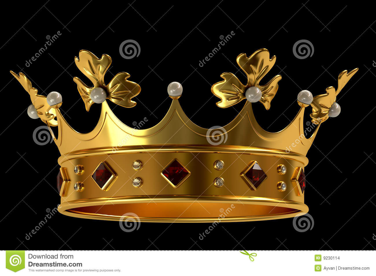 gold crown with jewels stock illustration image of power