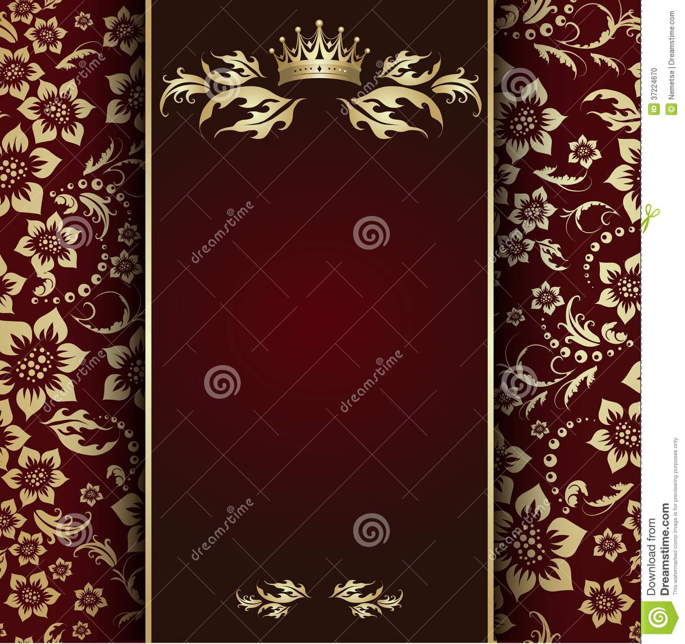 Gold Crown Stock Photo Image