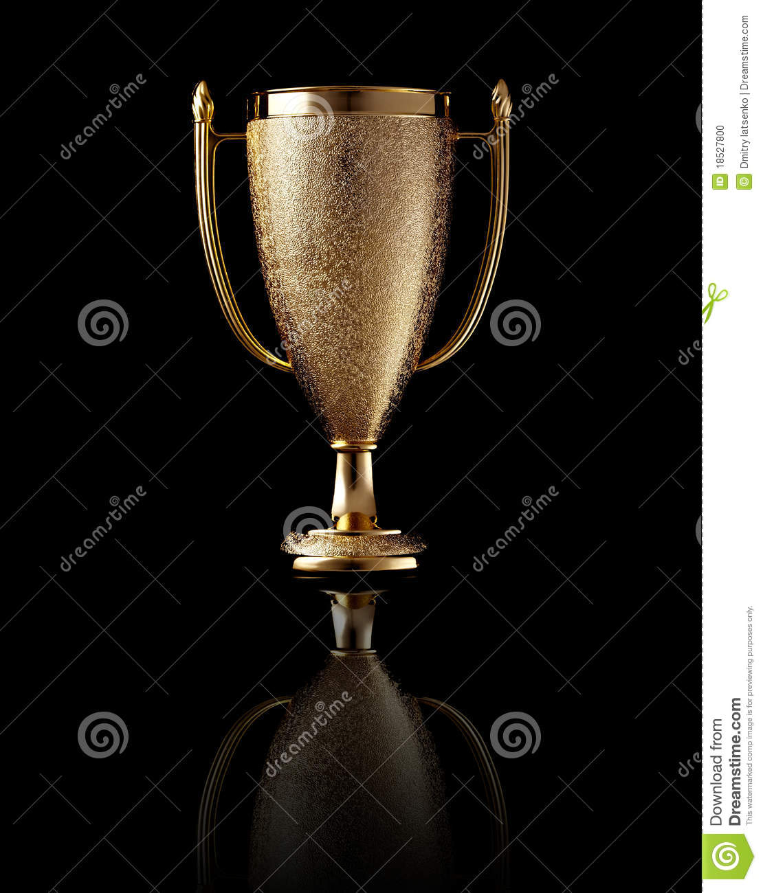Gold Cup On Black Background Stock Photo - Image: 18527800