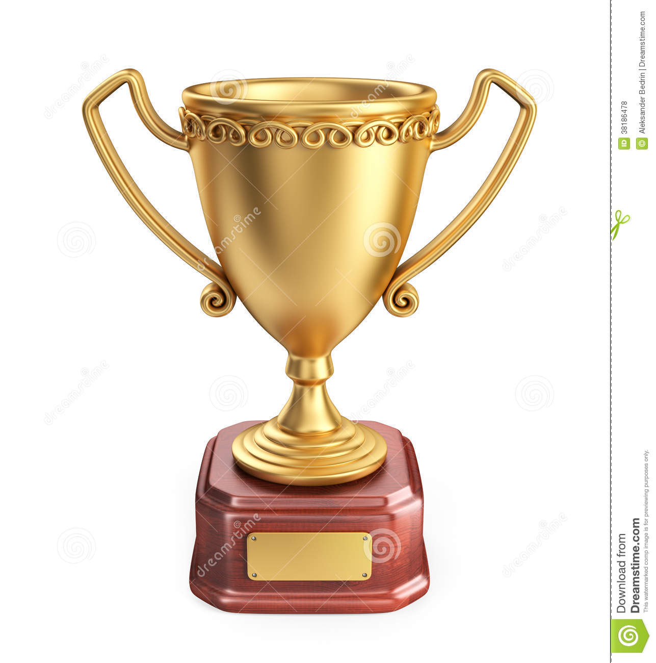Gold Cup Winner Trophy. 3D Icon Isolated Royalty Free Stock Photos ...