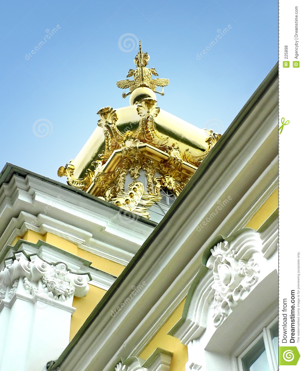Download Gold cupola stock photo. Image of outdoor, federation, building - 225898