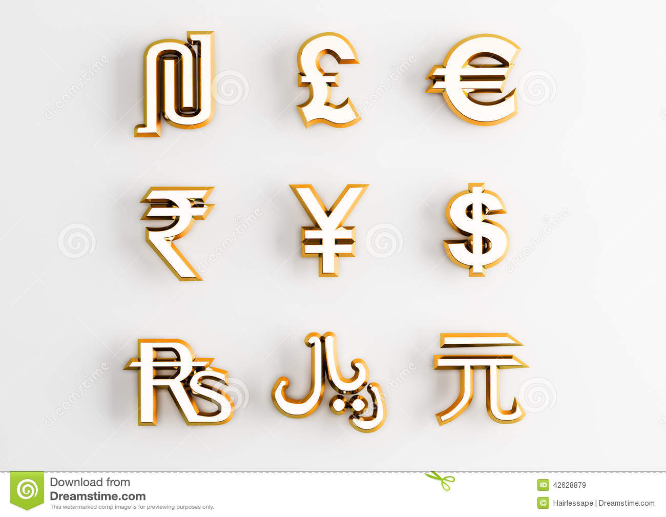 World Currency Icon And Symbols Vector Illustration Cartoondealer