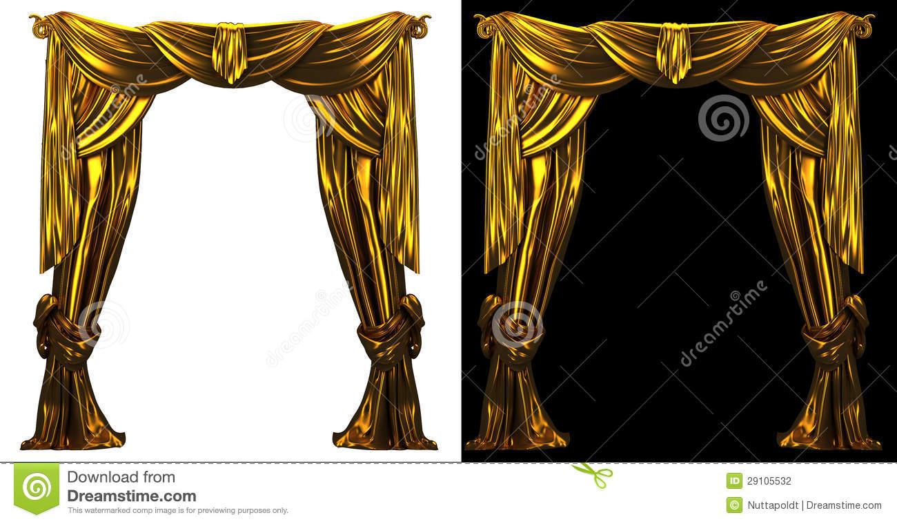 Bl blue stage curtains background - Gold Curtain Background Stock Photography