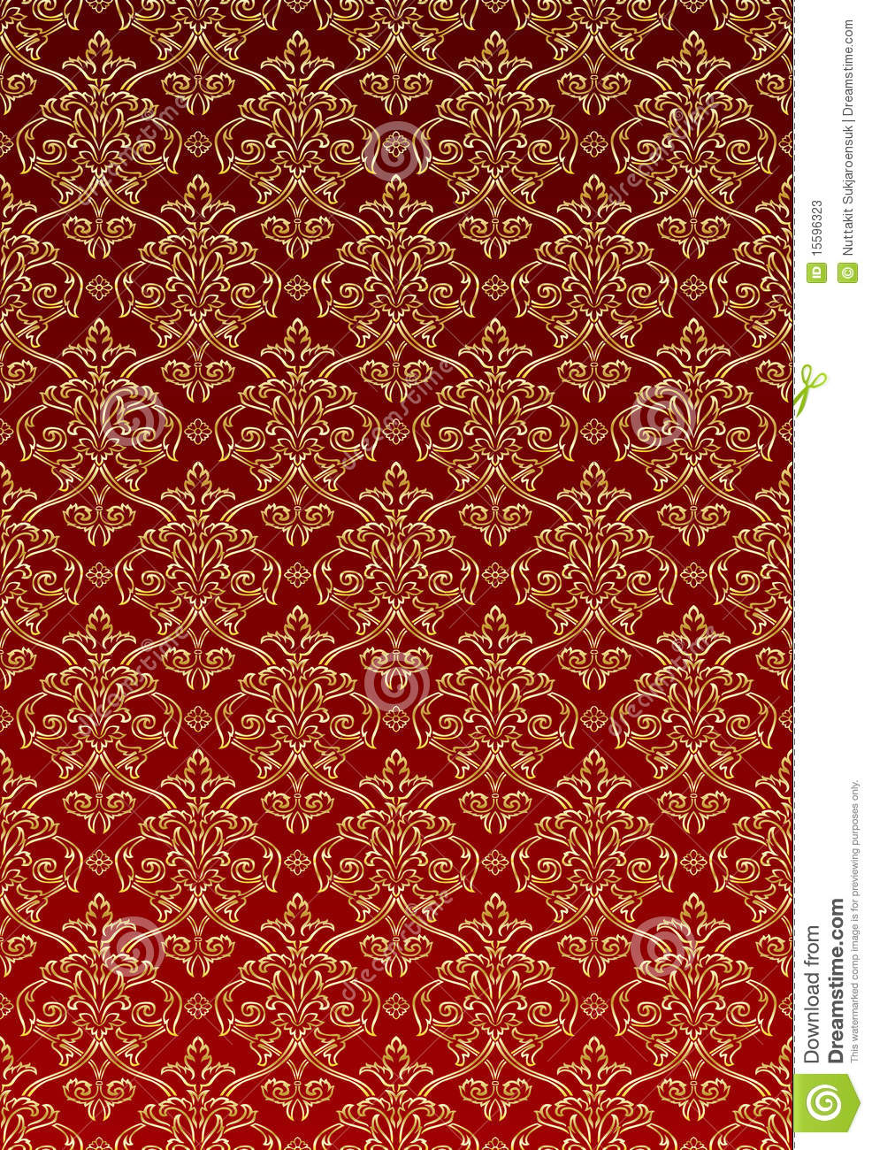 Gold Damask Style Wallpaper Stock Photos - Image: 15596323
