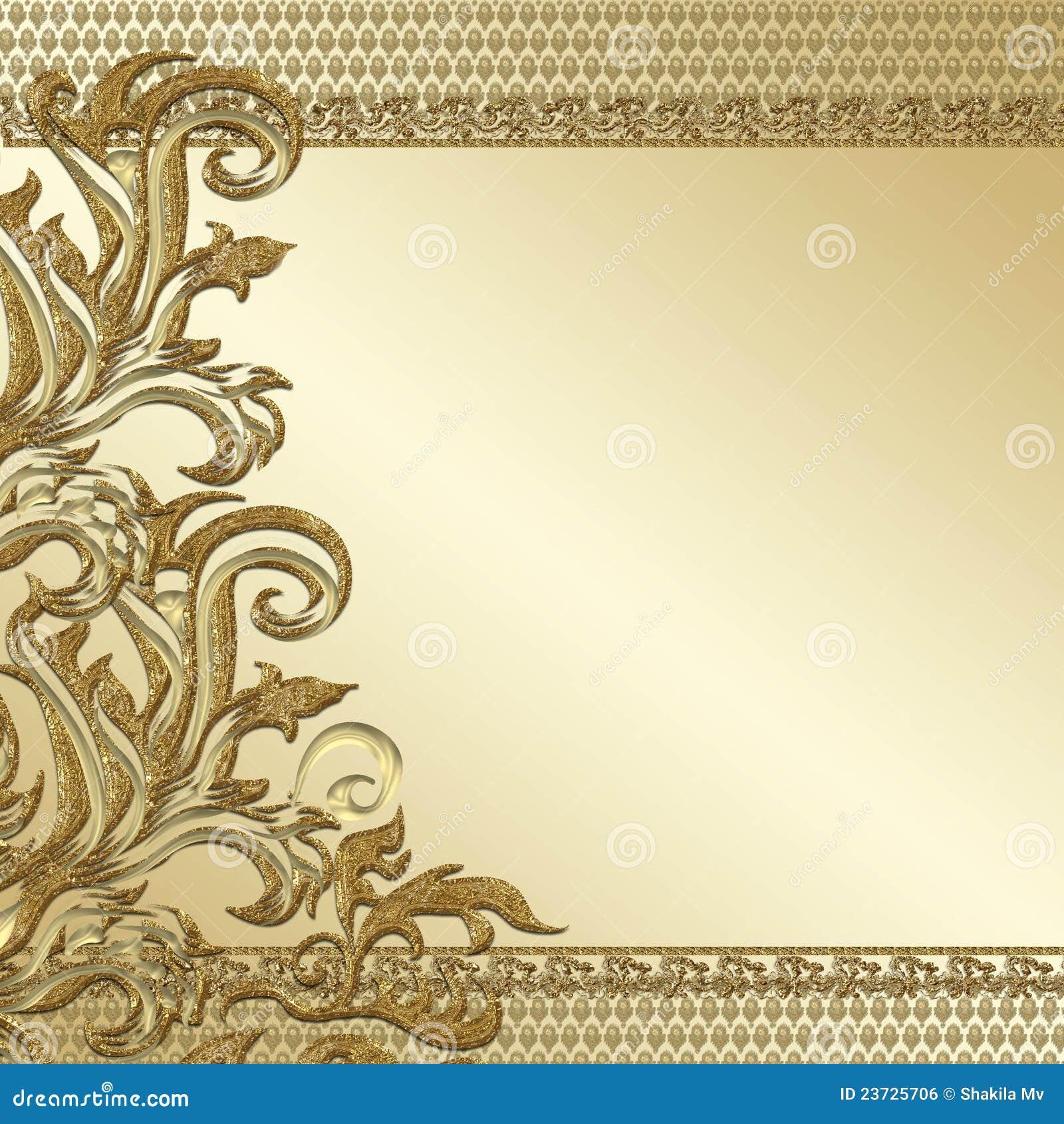 Gold decorative background stock illustration. Image of ...
