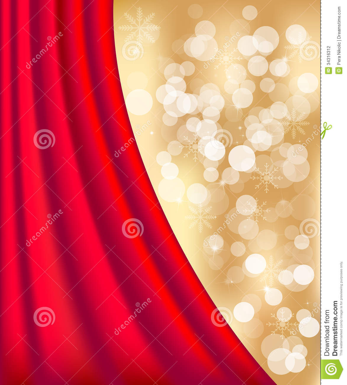 Gold defocused lights background stock photography image 34316312