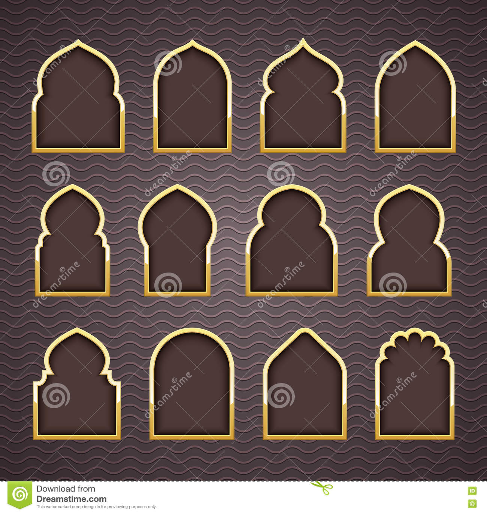 Gold Design Arab Window Ramadan Kareem. Stock Vector ... on jerusalem window, jesus window, valentines day window, thank you window, fashion window, new year window,