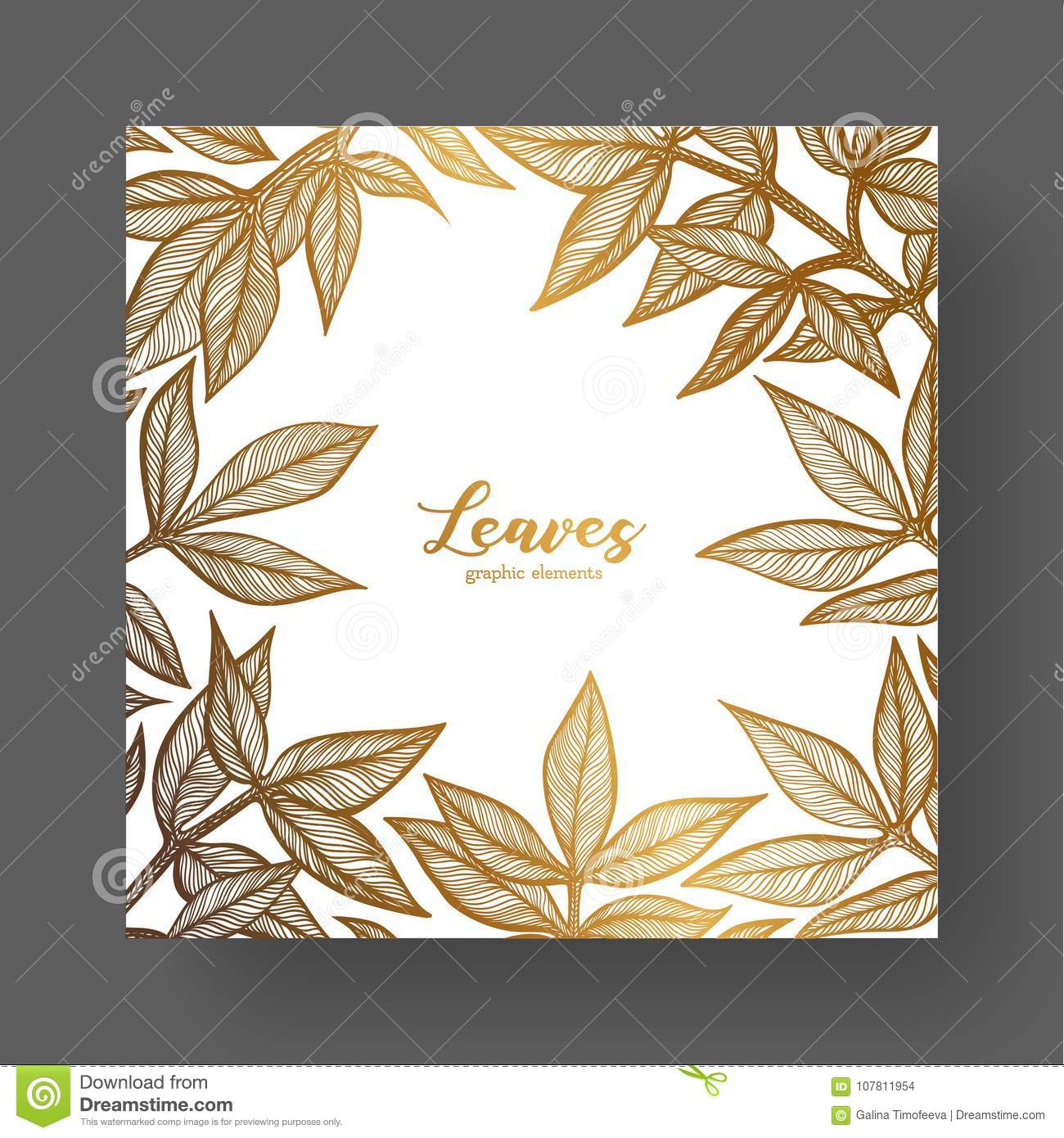 Gold Design Template For Wedding Invitations, Greeting Cards, Labels ...