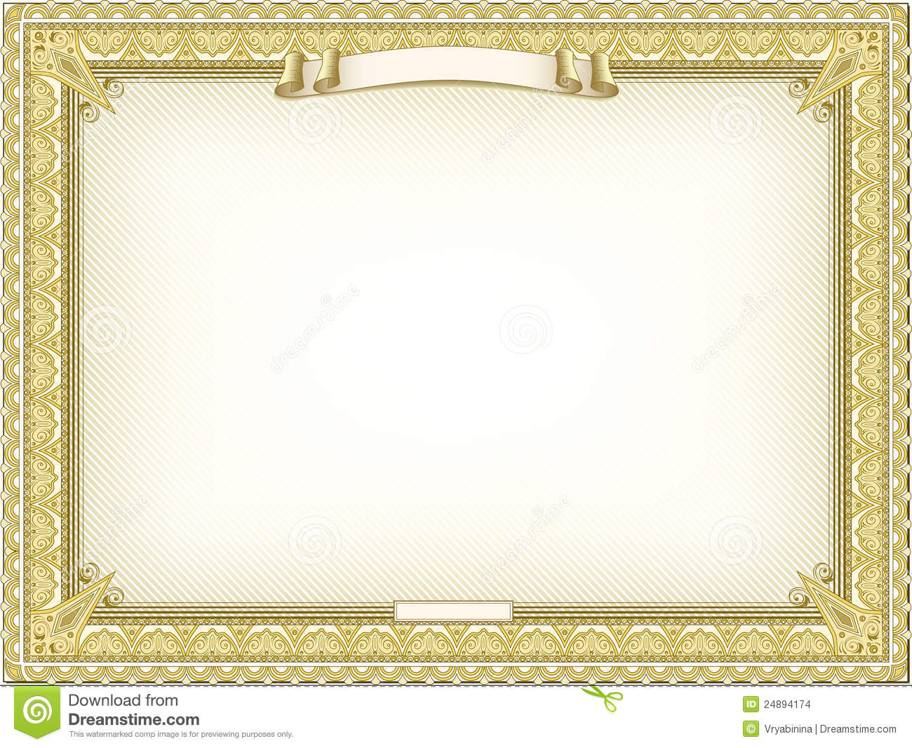 Gold Detailed Certificate Depositphotos Stock Photo Perfect Red