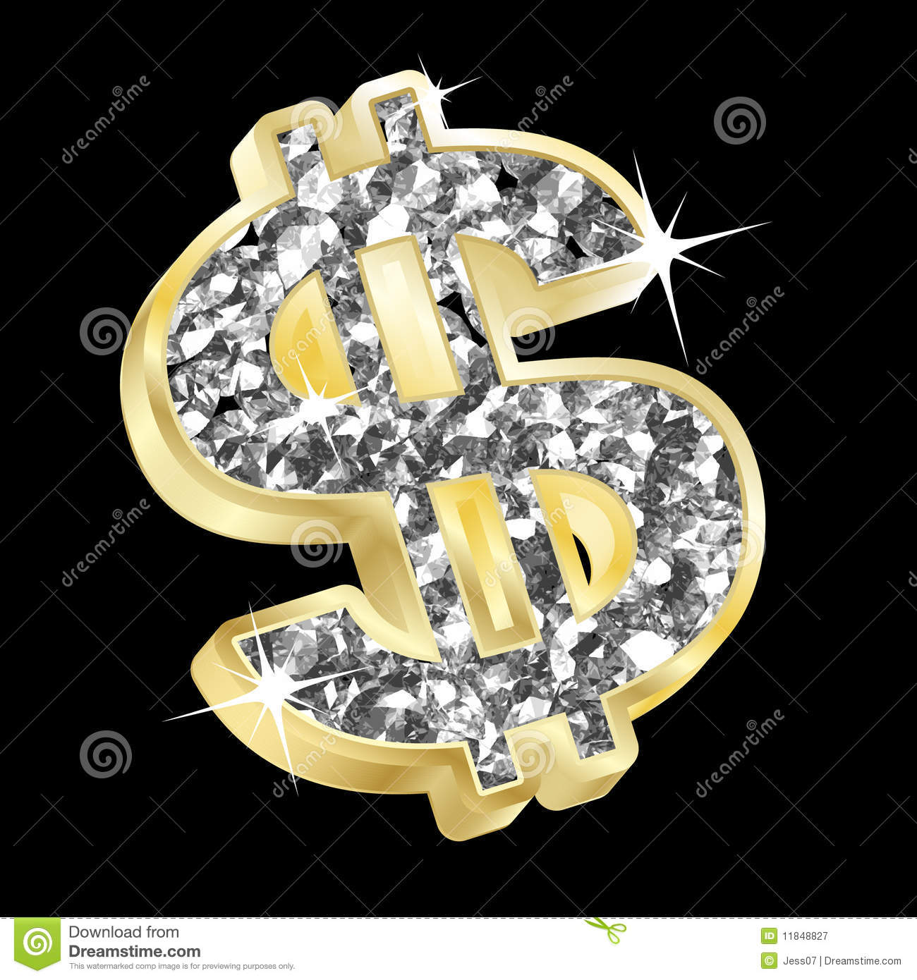 Gold and diamond dollar royalty free stock photography for Dollar jewelry and more