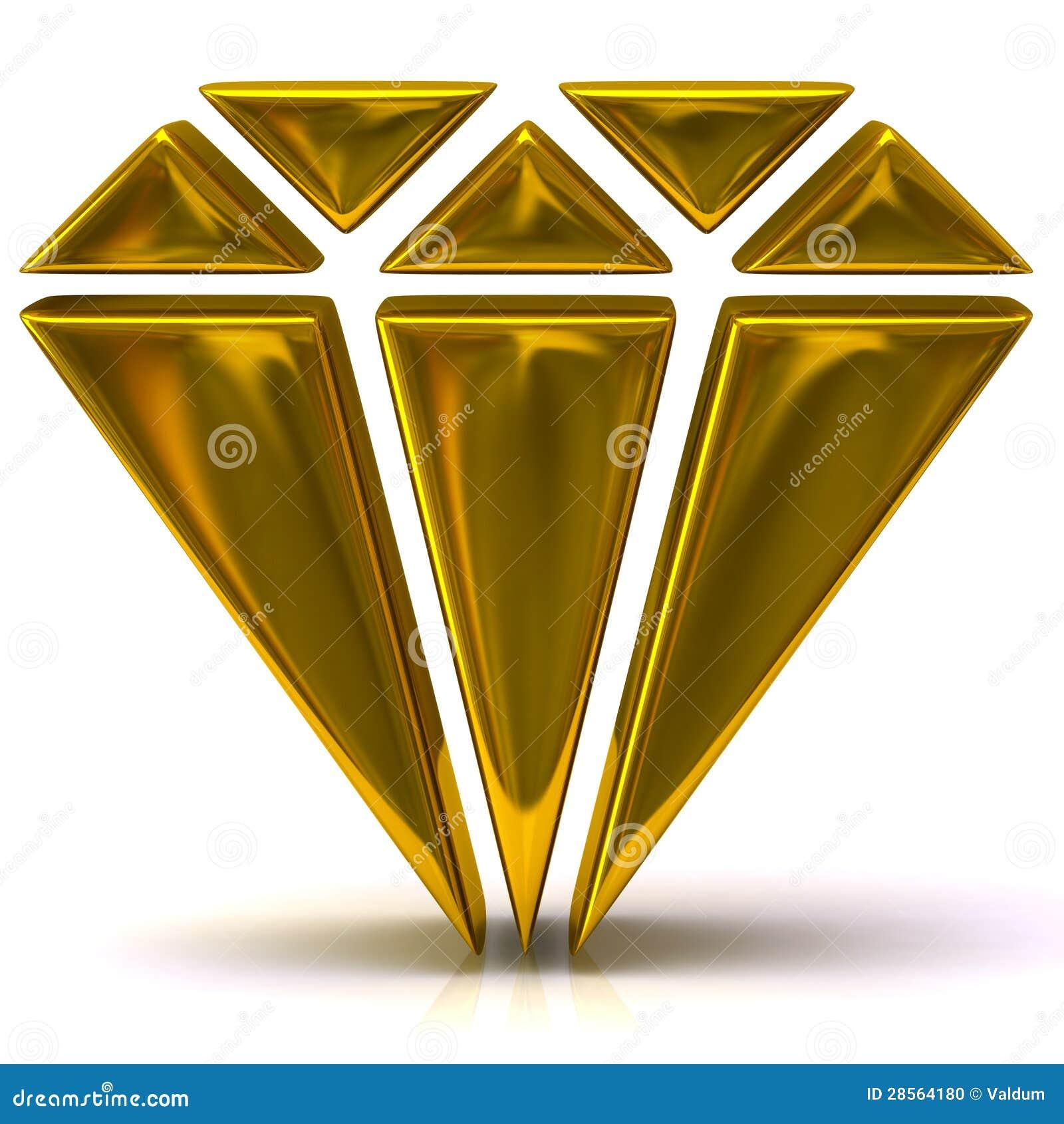 Gold Diamond Icon Stock Photo Image 28564180
