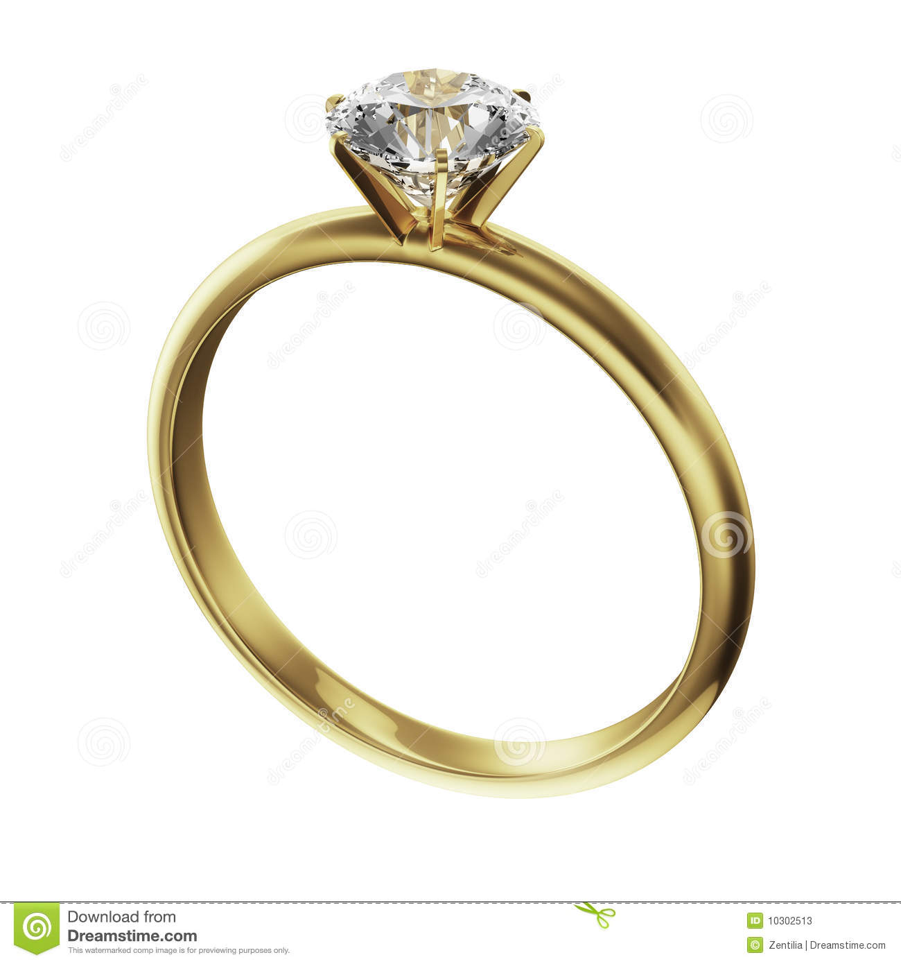 Gold Diamond Ring Stock Photos Image 10302513