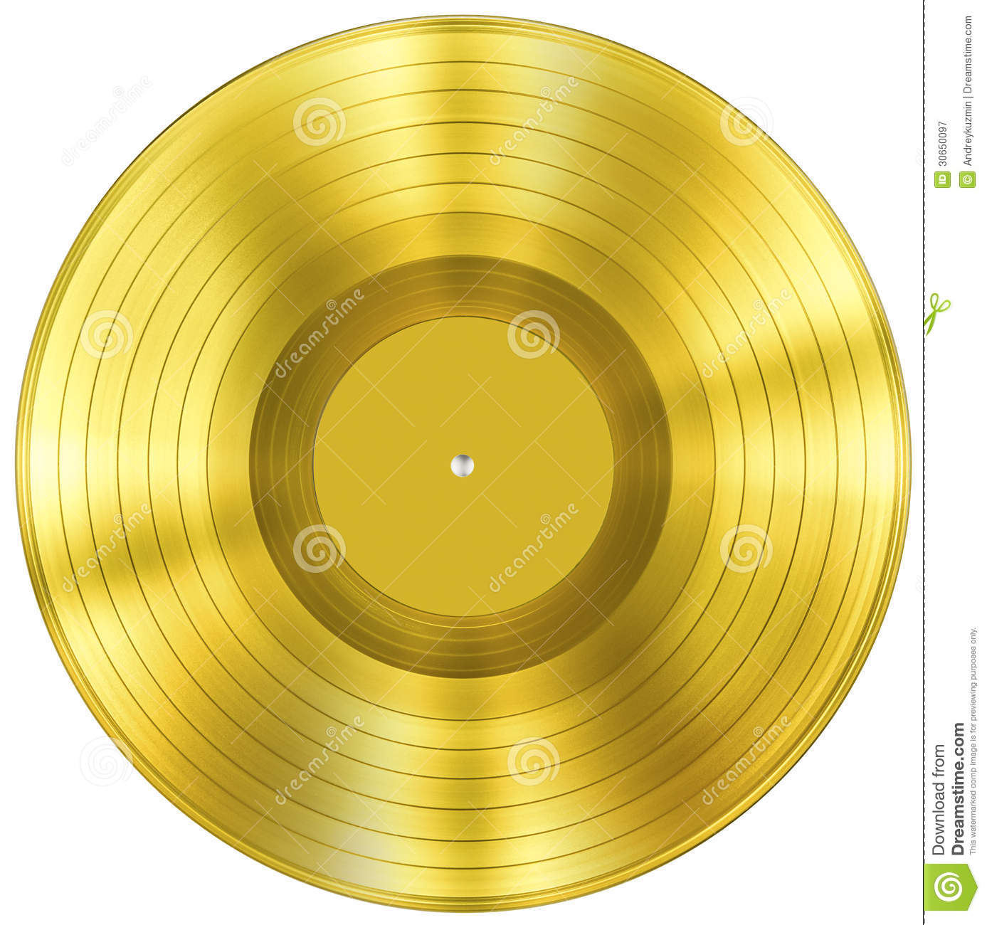 Gold Disc Music Award Isolated Royalty Free Stock