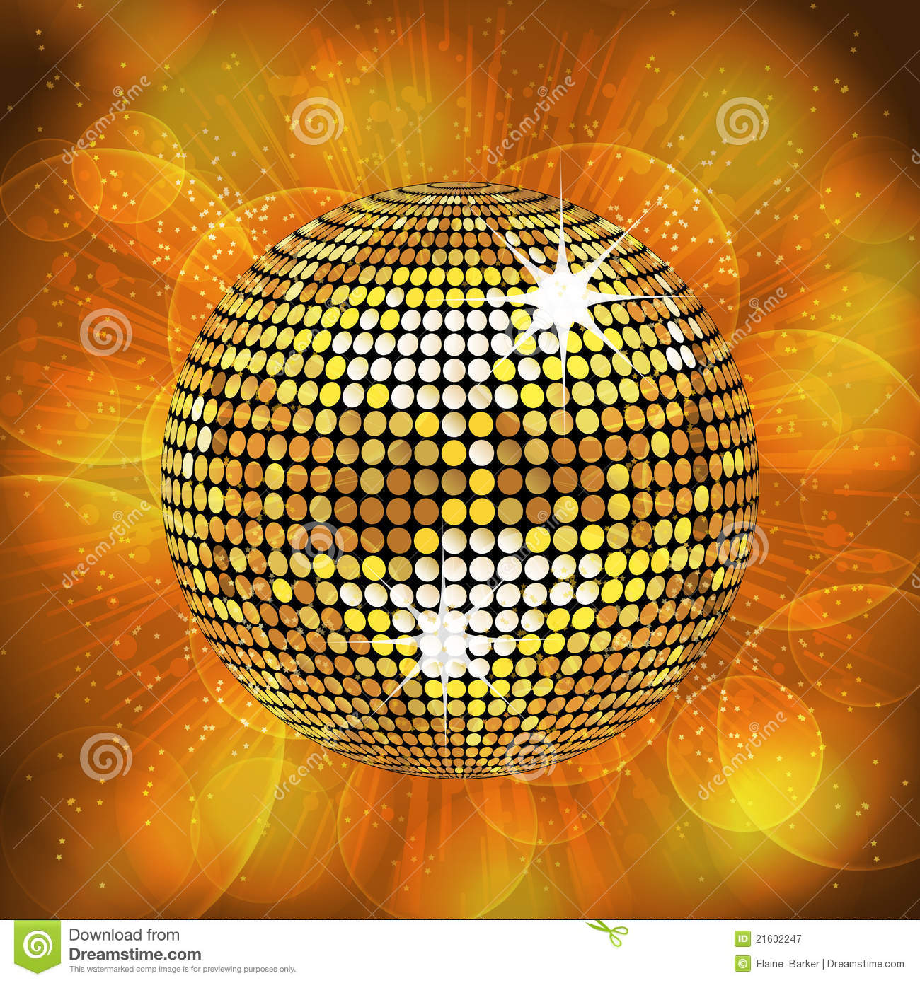 Gold Disco Ball Background Royalty Free Stock Photography ...