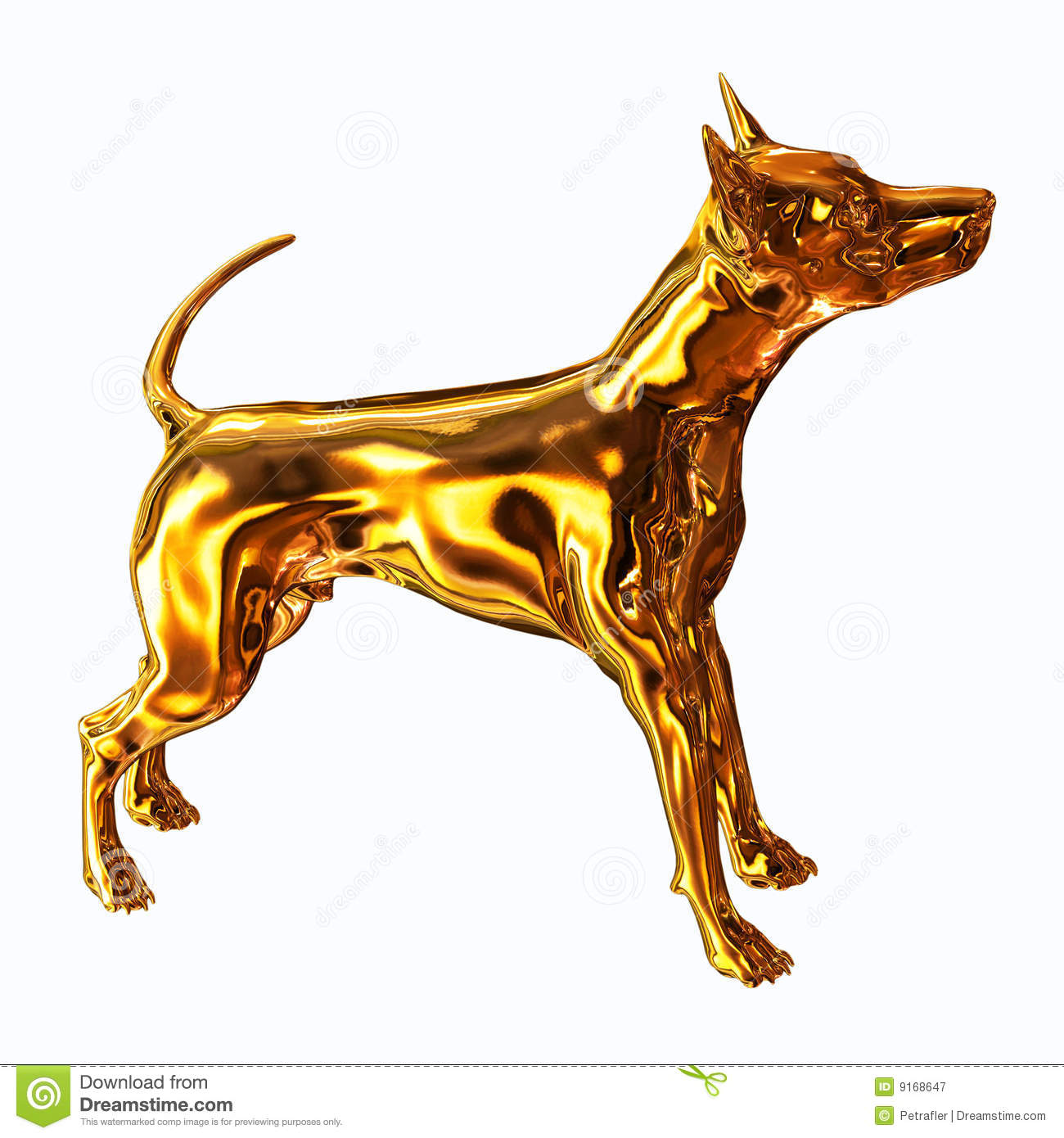 Gold Dog Royalty Free Stock Photography - Image: 9168647