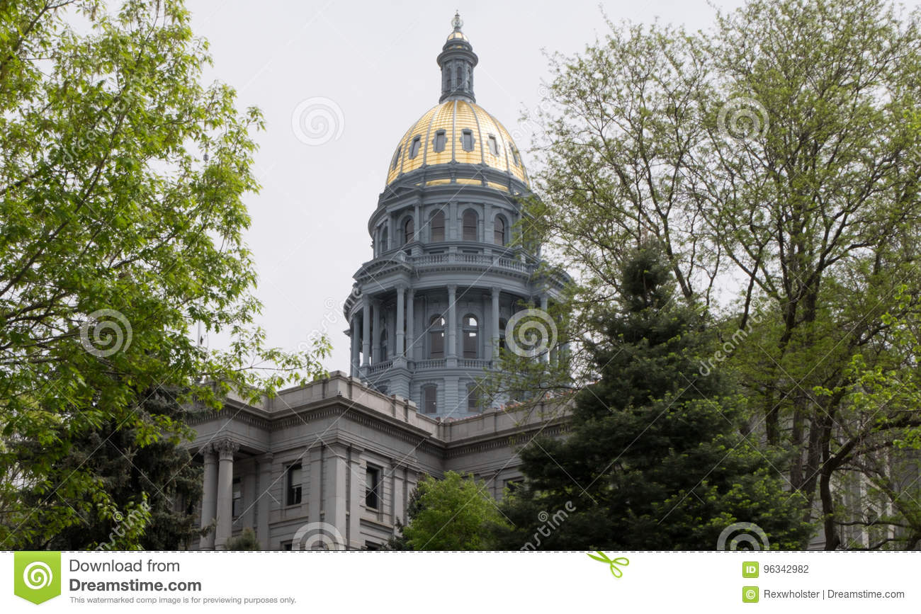 Gold Dome of the Colorado State Capitol