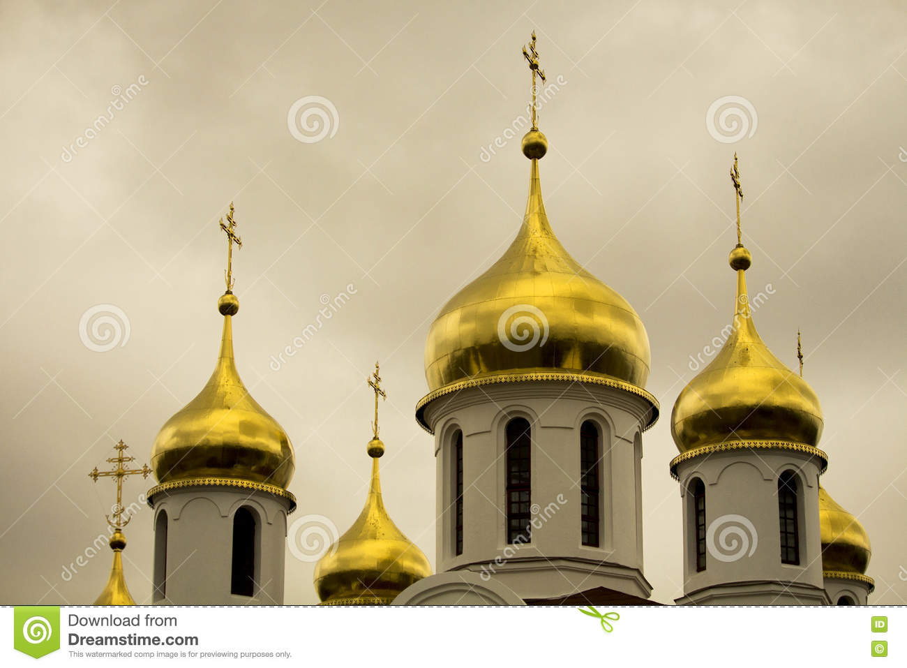 Gold Domes Of Russian Orthodox Church South Africa Editorial Stock