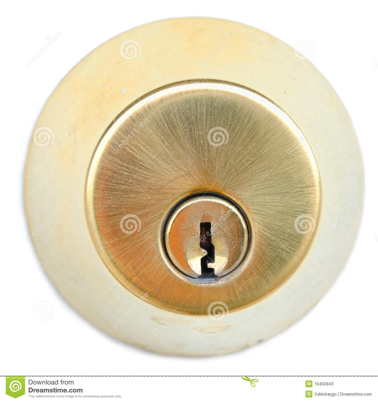 Gold Door Lock Stock Photos Image 15450943