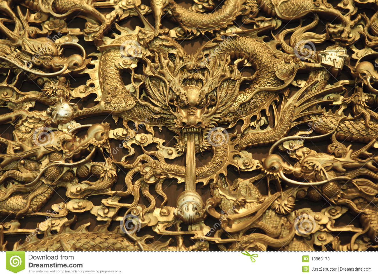 Gold Dragon Texture Stock Photo Image Of Object Chinese