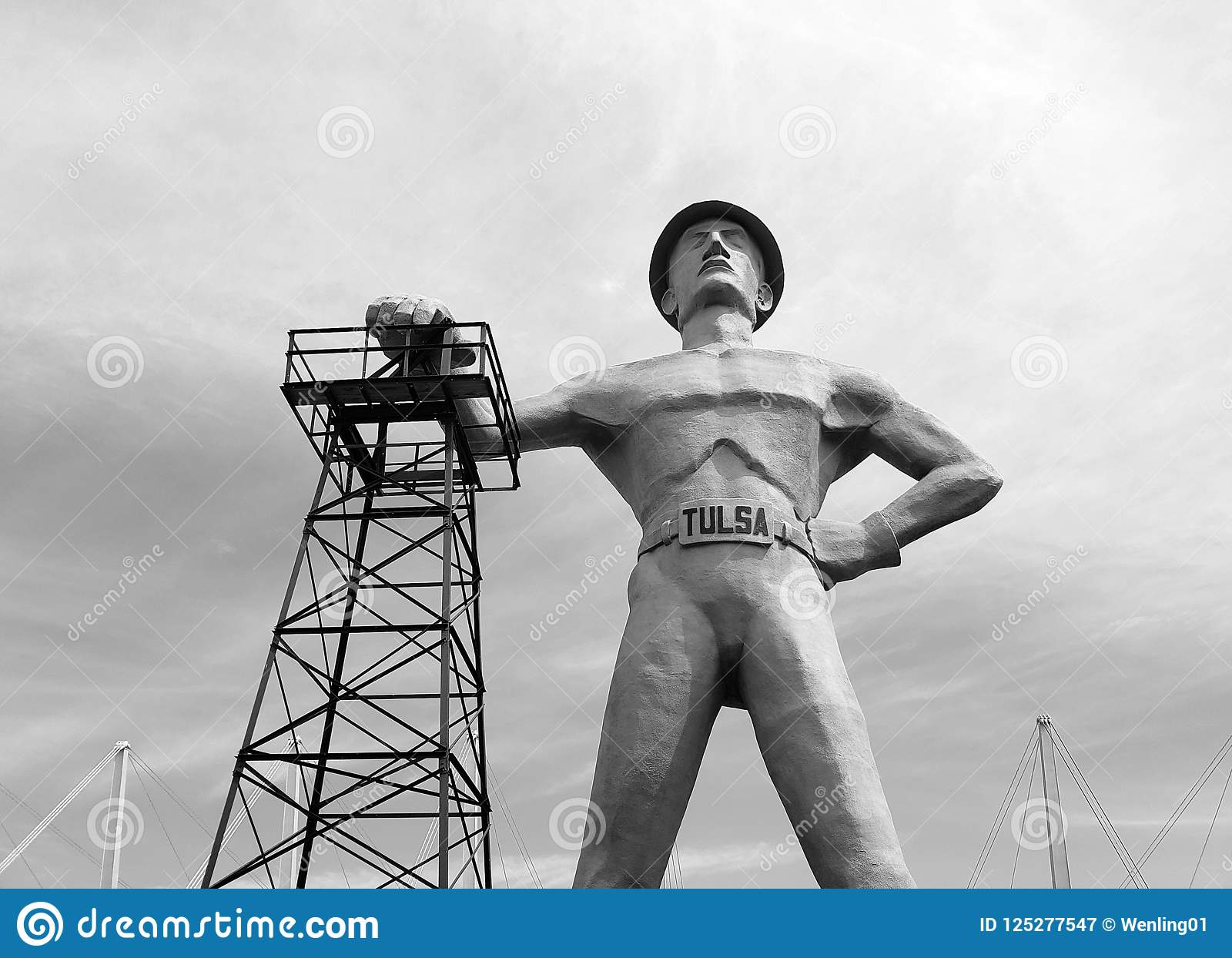 Gold driller black and white picture tulsa
