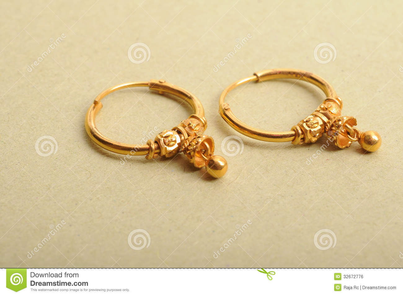 Gold earrings stock photo. Image of gorgeous, female - 32672776