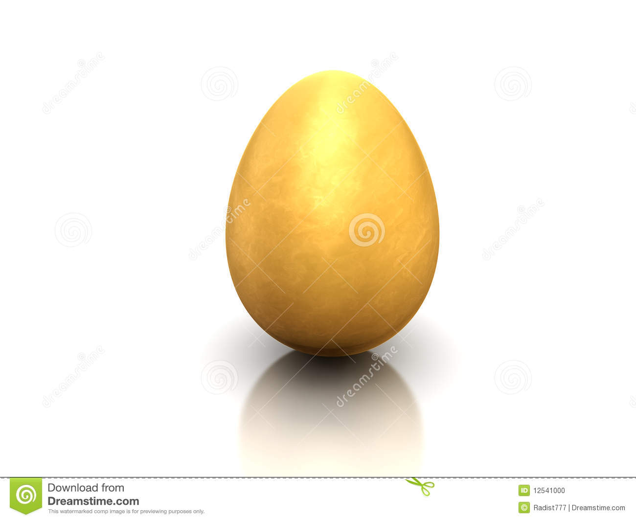 Gold Egg Stock Photo  Image 12541000
