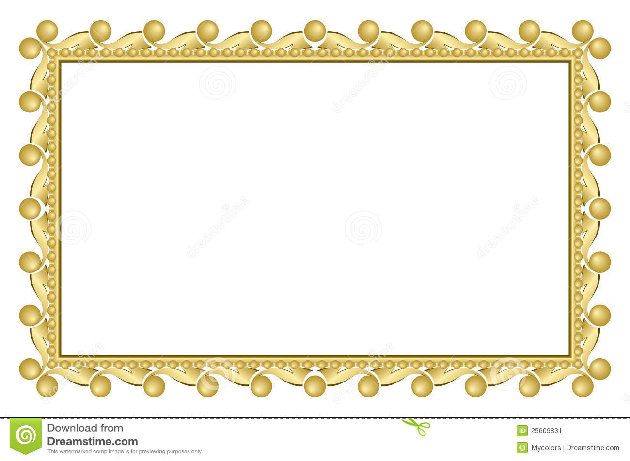 Gold Elegant Frame - Vector Stock Vector - Illustration of rectangle ...