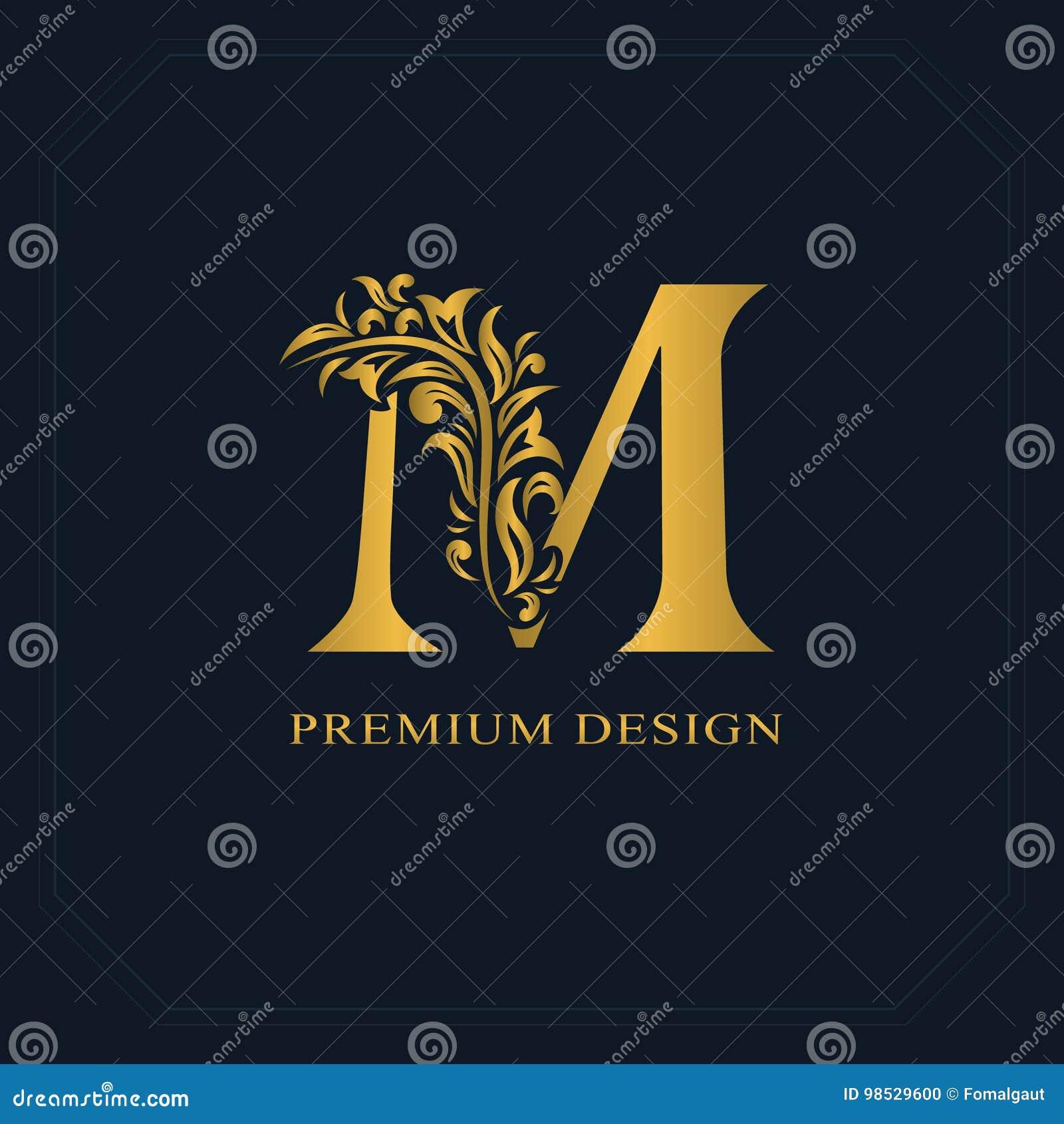 Gold Elegant Letter N Graceful Style Calligraphic