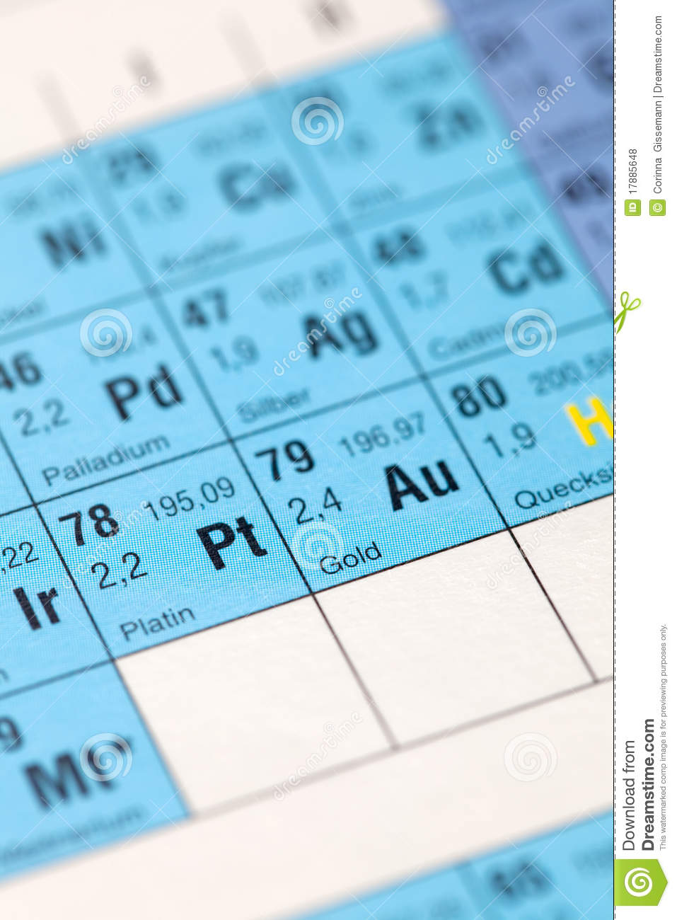 Gold Element Stock Photo Image Of Noble Focus Chemical 17885648