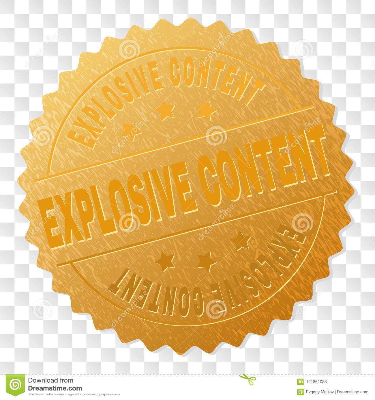 Gold EXPLOSIVE CONTENT Award Stamp