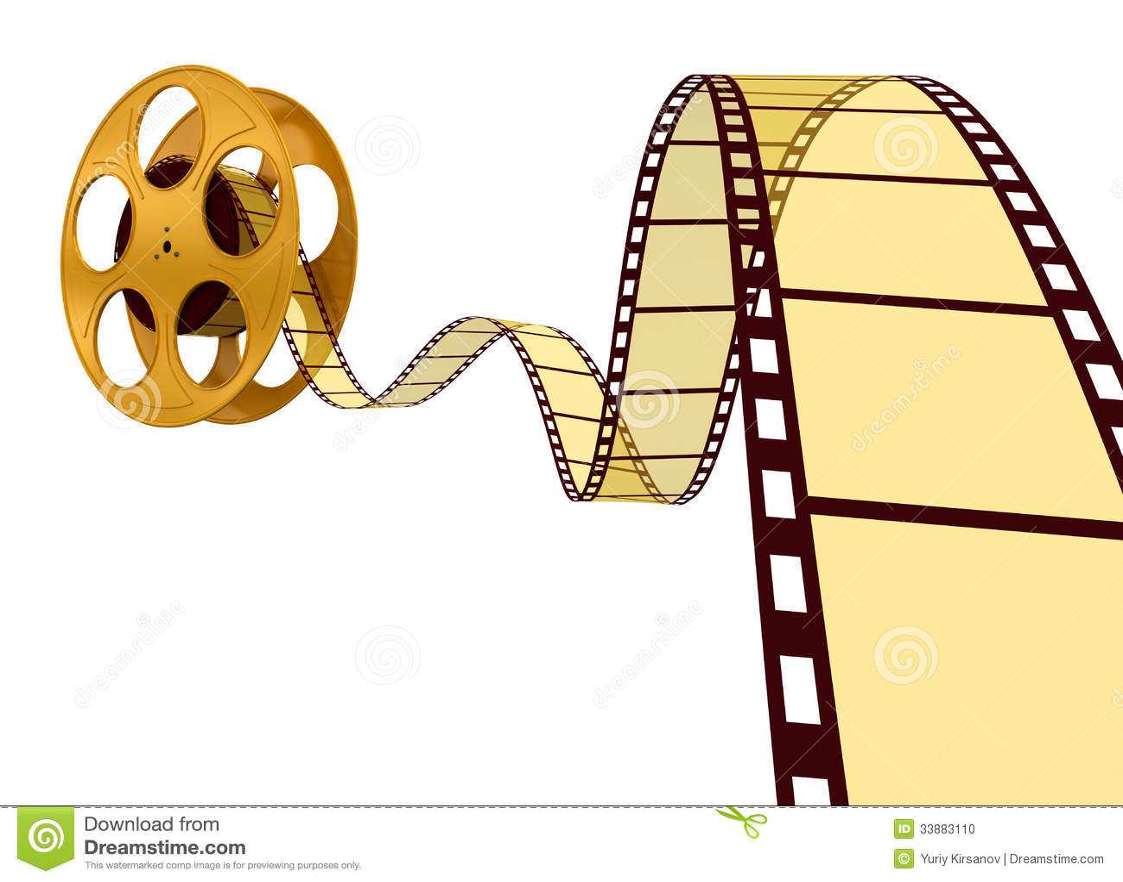 Gold Film Strip Stock Photo - Image: 33883110