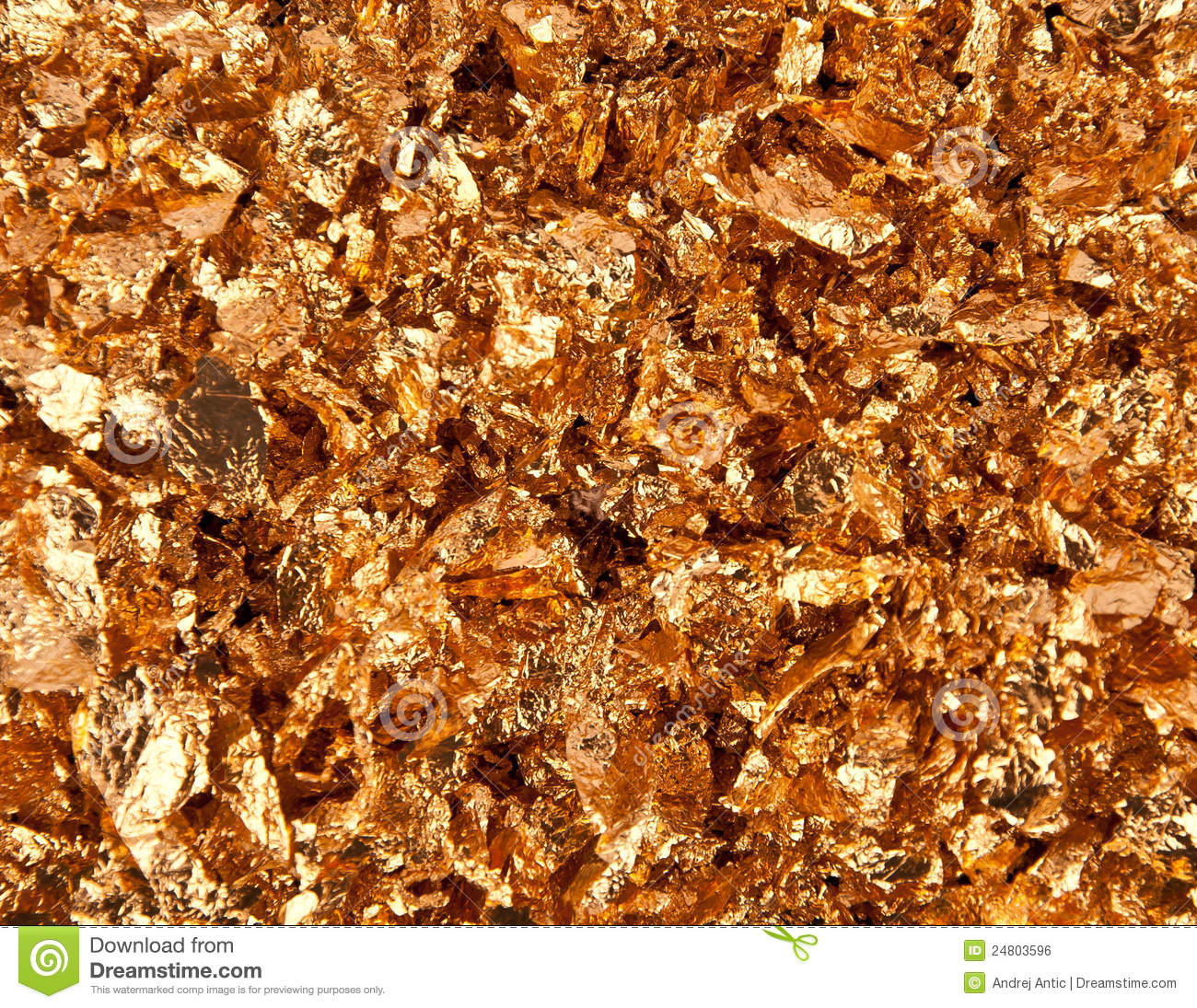 Gold Flakes Royalty Free Stock Image Image 24803596
