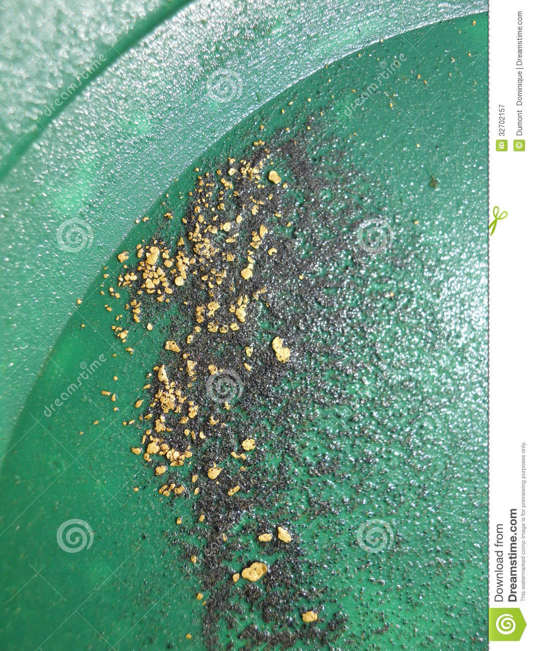 gold flakes stock image image of sand minerals panning