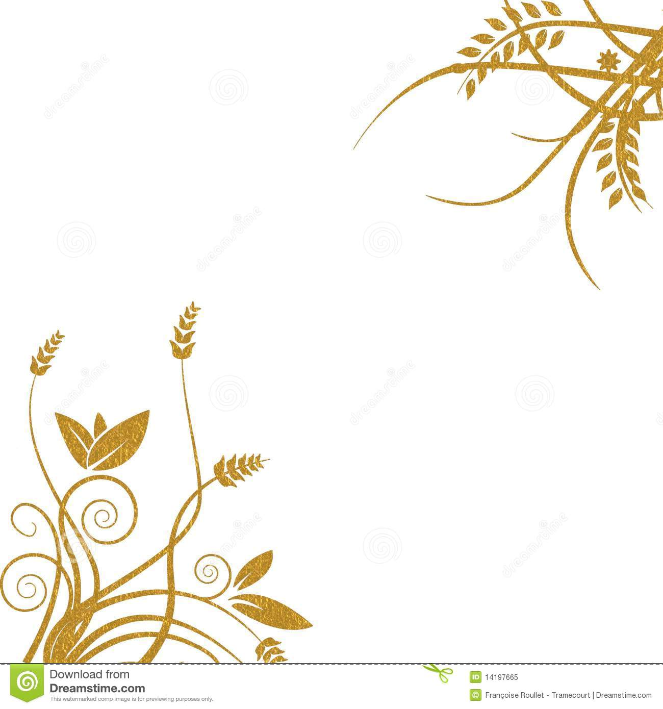 Gold Floral Background Royalty Free Stock Photo Image