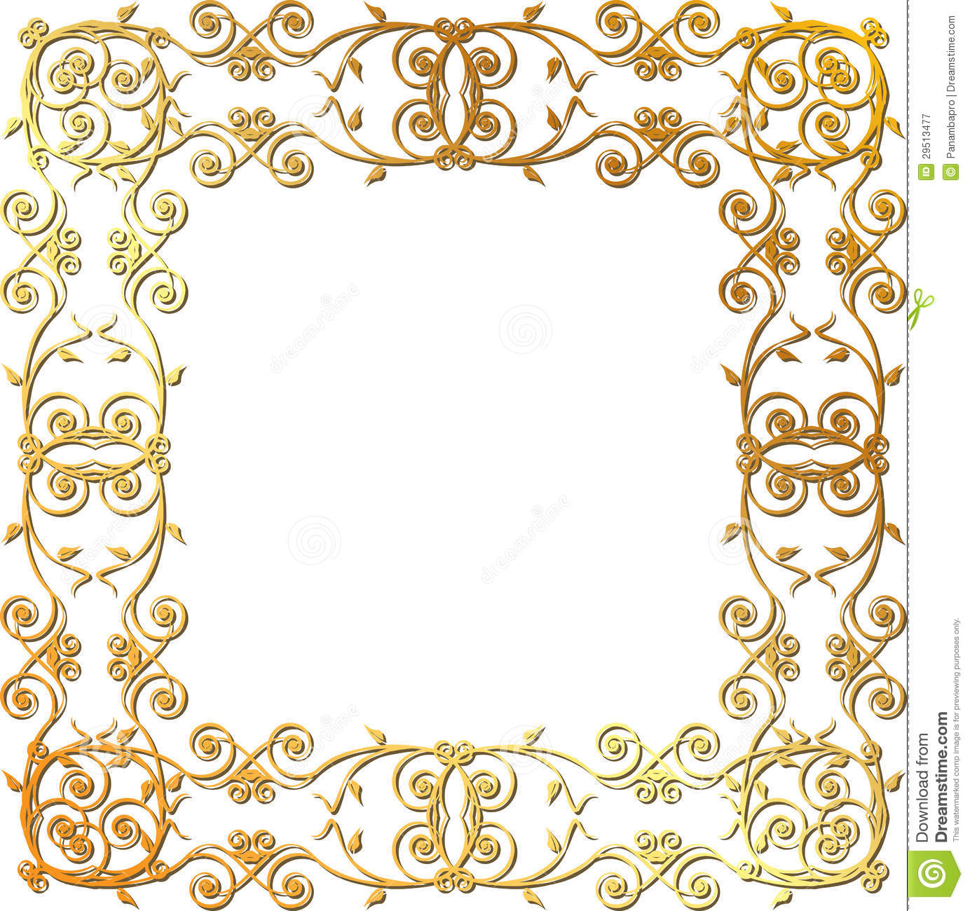 3066f011659f Gold floral frame stock vector. Illustration of ornaments - 29513477
