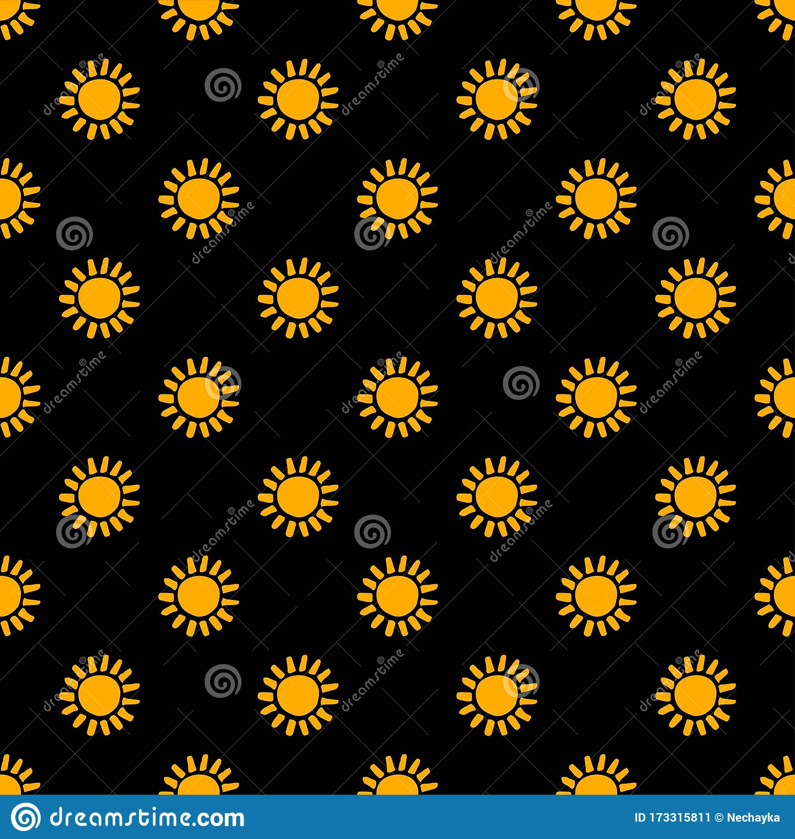 Gold Floral Pattern On Black Background Seamless Flower Design Black Yellow Aesthetic Great For Fabric Scrapbooking Stock Vector Illustration Of Flat Fashion 173315811