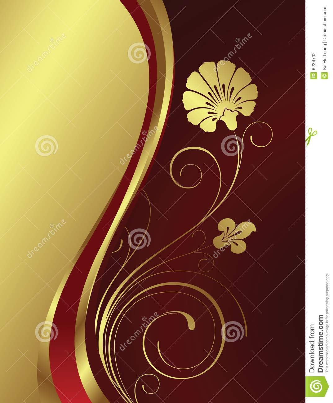 Gold Flower Stock Photography
