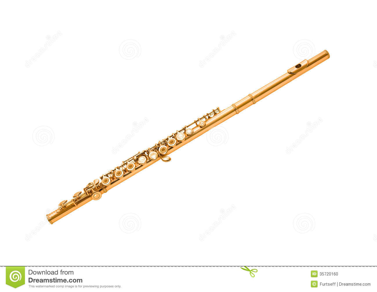 Gold Flute Stock Photo - Image: 35720160