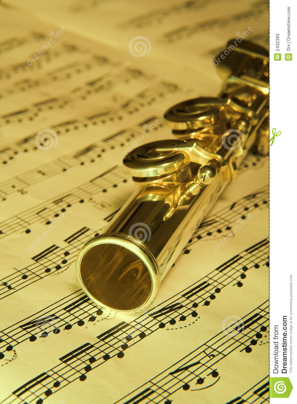 Flute Music Gold flute - music background