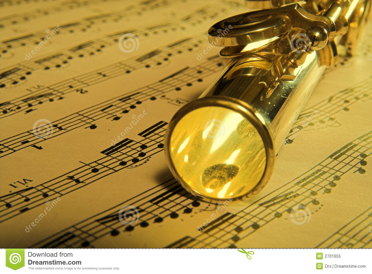Gold Flute Music Background Royalty Free Stock Photo ...