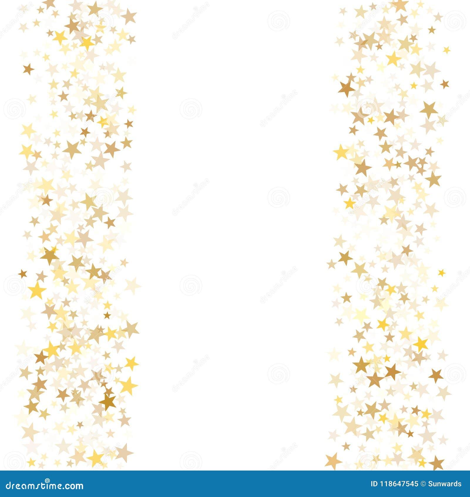 Gold Flying Stars Confetti Magic Holiday Frame Vector, Premium ...