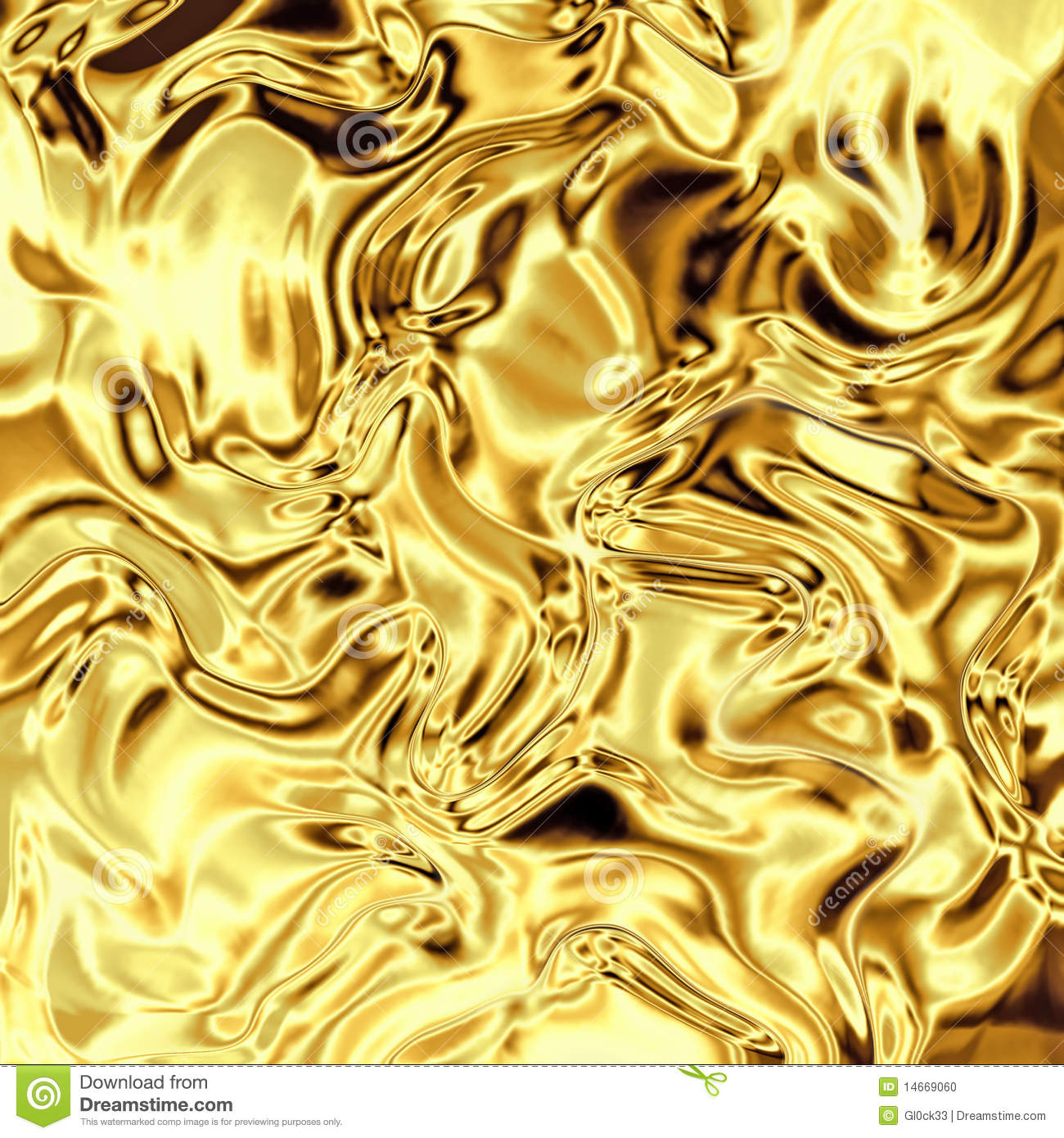 Gold Foil Curved Stock Photo - Image: 14669060