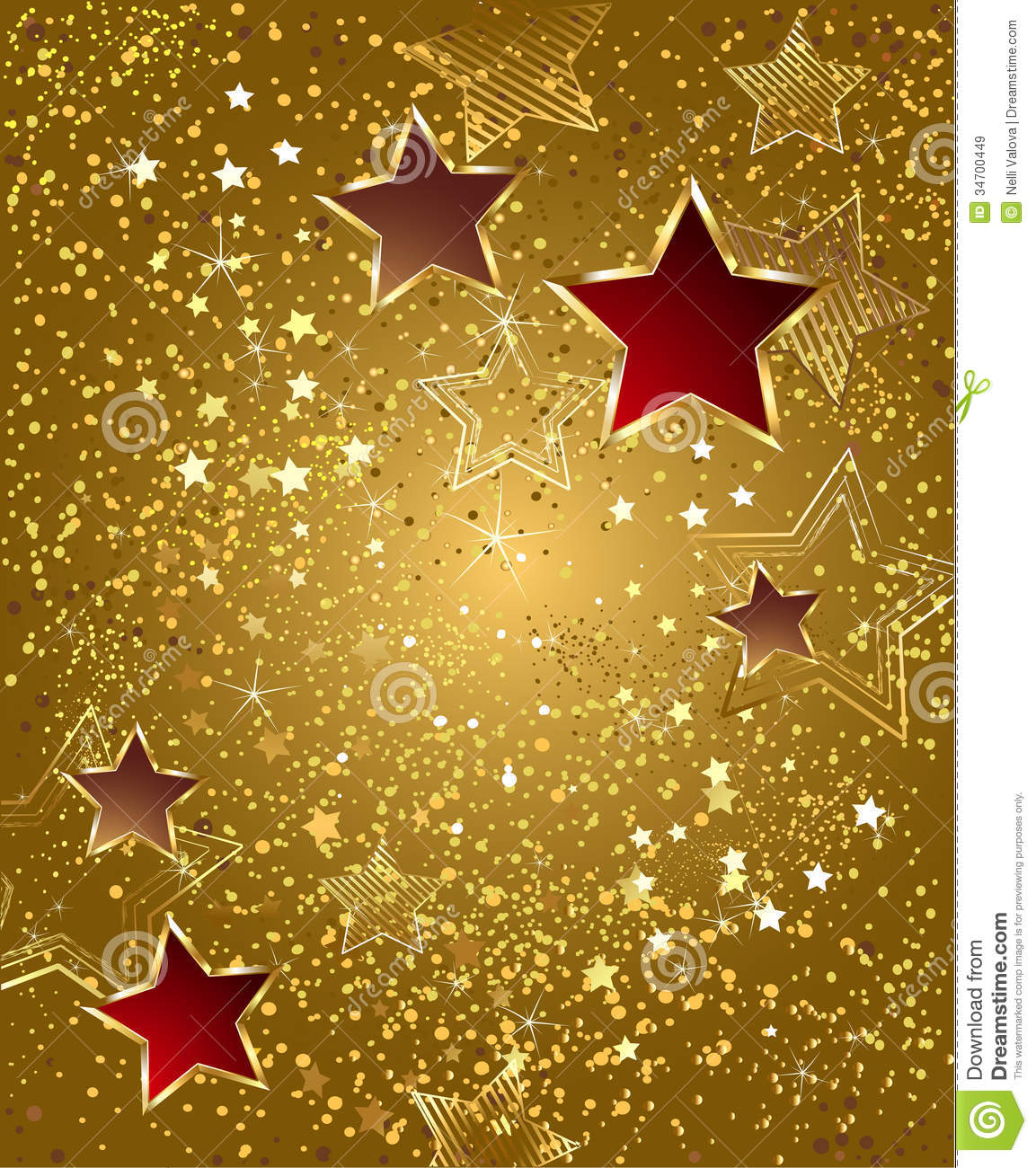 Gold Foil With Stars Royalty Free Stock Images Image
