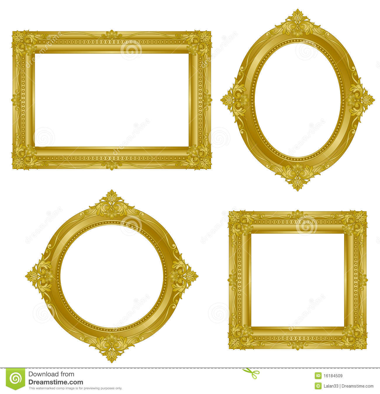 Gold Frame Royalty Free Stock Images Image 16184509