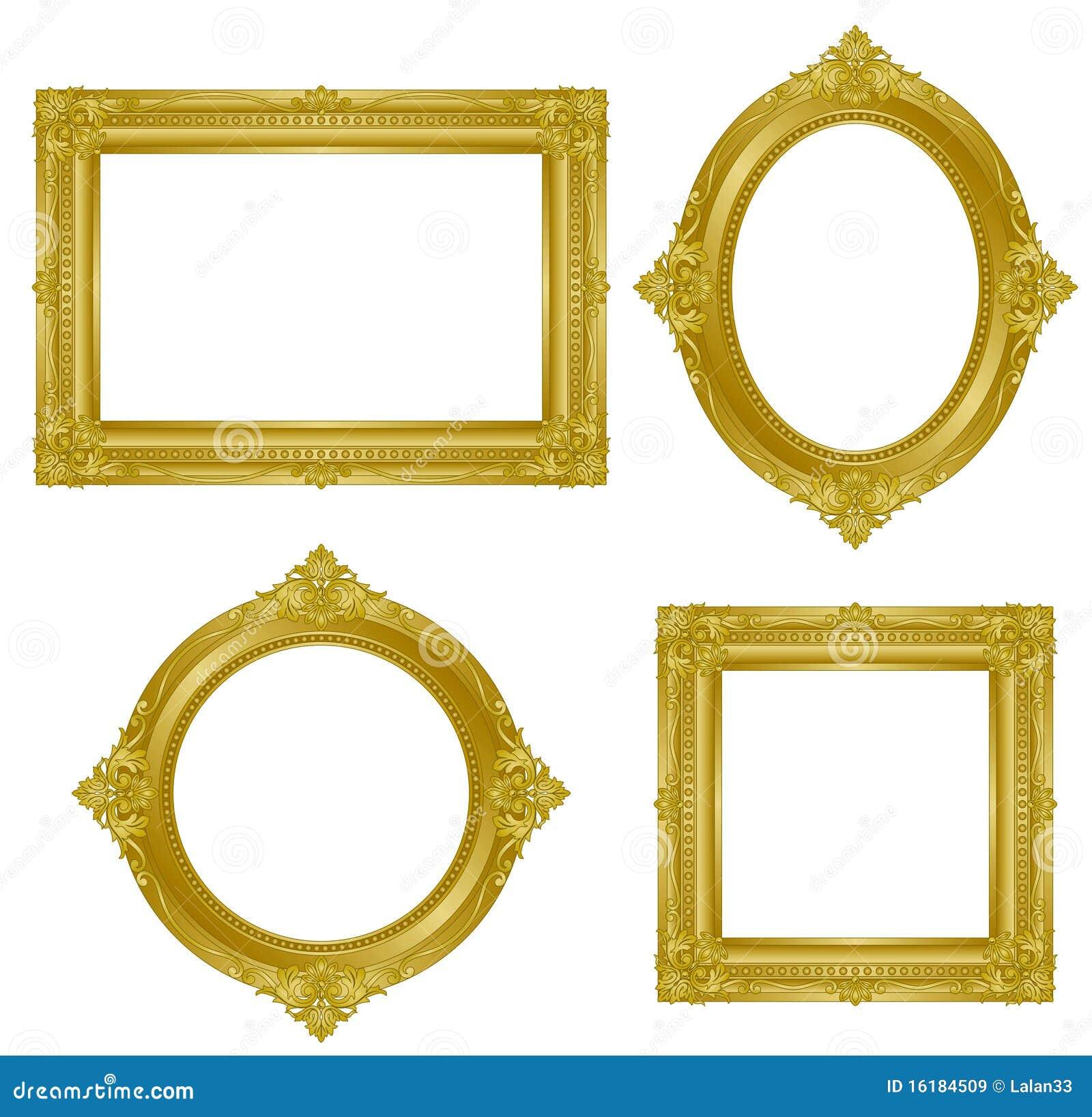 Gold Frame Stock Vector Illustration Of Rectangle